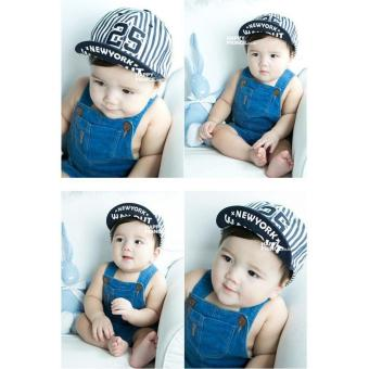 Harga Children Kids Striped New York 25 Boys Girls Hats Kids Baseball Caps - intl