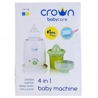 Harga Baby Crown 4In1 Baby Machine - Steril & Penghangat Susu Bpa Free