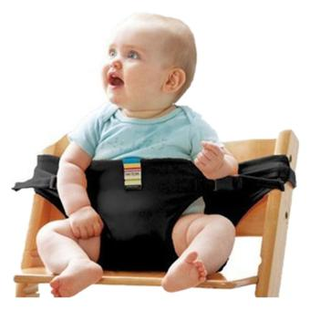 Harga LALANG Children's Lunch Portable Seat Dining Chair Seat Belt Black