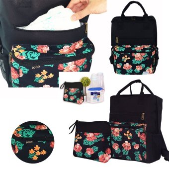 Harga Multifunctional Outdoor Baby Diaper Nappy Changing Bag Flower Pattern Large Capacity Mummy Bags