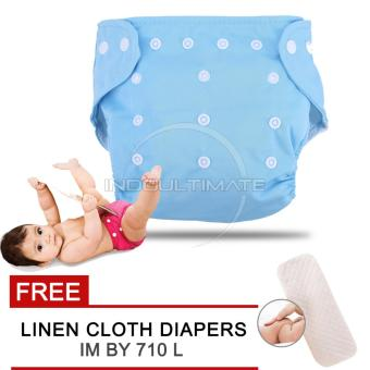 Harga Cloth diaper / Cloth diapers / Clodi Popok Kain Bayi BY 72 / Pampers Kain BLUE + FREE INSERT