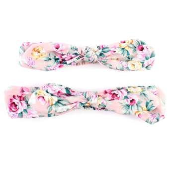 Harga Jiayiqi 2Pcs/Set Mom Baby Bow Knot Print Flowers Headband Hair Accessories
