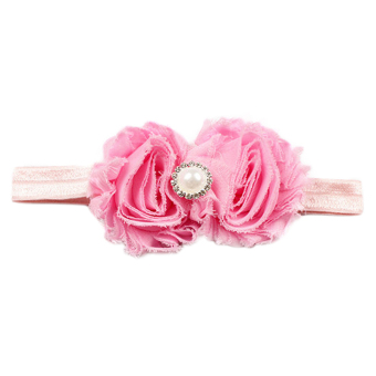 Harga Cocotina Fashion Baby Girl Toddler Newborn Flower Faux Pearl Headband Hair Band Photo Props – Pink
