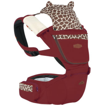 Harga AIEBAO A6626 Multifunctional Baby Carrier Waist Belt Infant Hip Seat(Wine Red) - intl