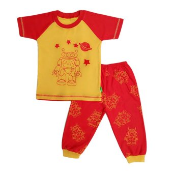 Harga Arrow Apple Kids - Kids Pajamas/ Piyama Anak - Robot - Deep Yellow - 1 Set