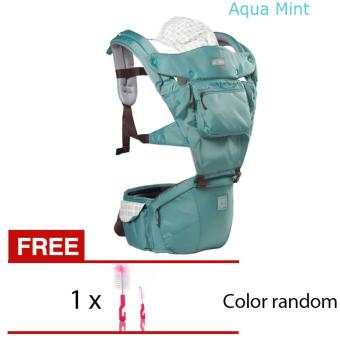 Harga AIEBAO A6627 Multifunctional Waist Belt Infant Hip Seat Baby Carrier(Green) - intl