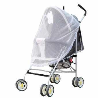 Harga Baby Mosquito Net for Strollers, Carriers, Car Seats, Cradles White