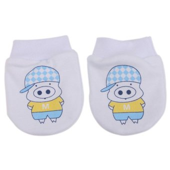 Harga Hanyu Cartoon Baby Cotton Gloves (Blue)
