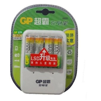Harga GP Batteries 1300mAh AA Rechargeable Battery AND charger kits for AA/AAA(Chinese Retail packaging)
