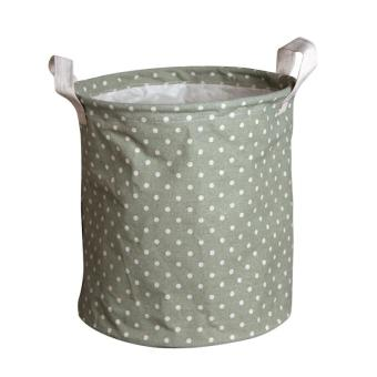 Harga Hot Slaes Dots Storage Basket For Toys Small Laundry Basket For Underwear Table Makeup Organizer Sundries Storage Box 24*27cm - Green Dots - intl