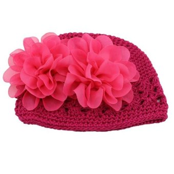 Harga Flower Toddlers Infant Baby Girl Lace Hair Band Headband Headwear Hat Rose Red