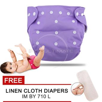 Harga Cloth diaper / Cloth diapers / Clodi Popok Kain Bayi BY 72 / Pampers Kain PURPLE + FREE INSERT