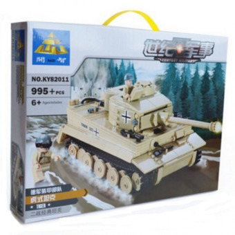 Harga 995pcs KAZI Century Military Building Blocks German King Tiger Tank Model Enlighten Blocks Eduction Toys Compatible with legoe