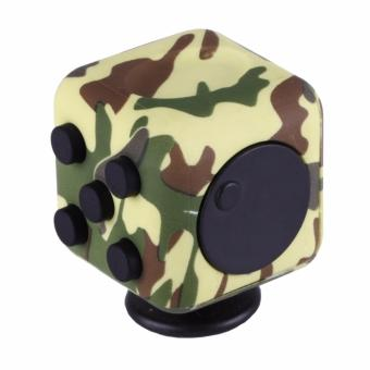 Harga Fidget Cube Kickstarter Finger Toys Therapy Vinyl Desk Stress Relief - Army Green