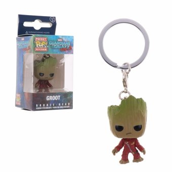 Harga Funko Guardians of the Galaxy Figure Pocket POP Keychains Groot Rocket Star-Lord - intl