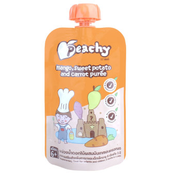 Harga Peachy Mango Sweet Potato & Carrot Puree 110gr - 6m+