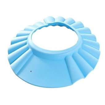 Harga Okdeals Adjustable Baby Shampoo Bath Hat Wash Hair Shield Blue