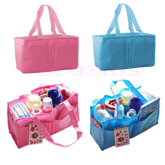 Harga Useful Baby Infant Nappy Bag Mother Bag Handbag Travel Diaper Storage Organizer (Blue)