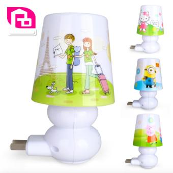 Harga Mini LED Night Light With Remote Control Night Lamp For Kids Room, Bedside, Nursery (Romantic travel) - intl