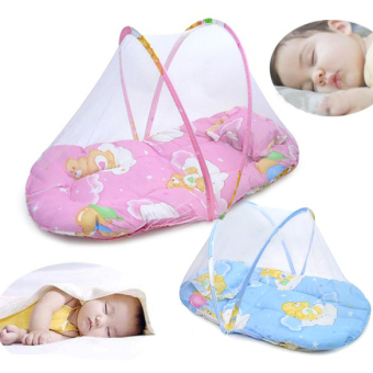 Harga Baby Mosquito Insect Cradle Bed Netting Canopy Cushion Mattress for Infant (Intl)