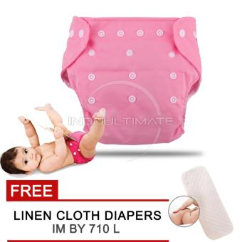 Harga Cloth diaper / Cloth diapers / Clodi Popok Kain Bayi BY 72 / Pampers Kain PINK + FREE INSERT
