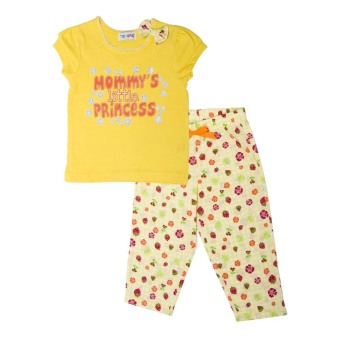 Harga Torio Little Princess Pajama Set Strawberry Sunshine - Kuning - Baju Anak
