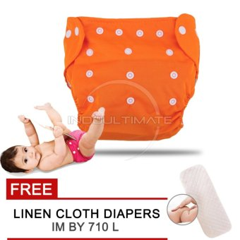 Harga Cloth diaper / Cloth diapers / Clodi Popok Kain Bayi BY 72 / Pampers Kain Orange + FREE INSERT