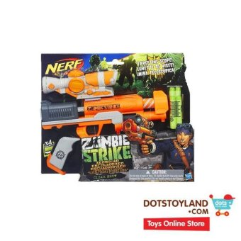 Nerf Zombie Strike ZED Squad Clear Shot Blaster - Orange