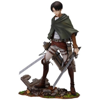 Harga Japanese Anime Shingeki No Kyojin Attack On Titan Levi Rivaille 25cm Boxed PVC Action Figure Brinquedos Kids Toys Anime Figure