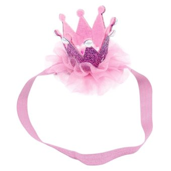 Harga Cocotina Baby Kids Girl Princess Queen Pearl Tiara Hair Band Headband Crown Lace Headwear - Pink