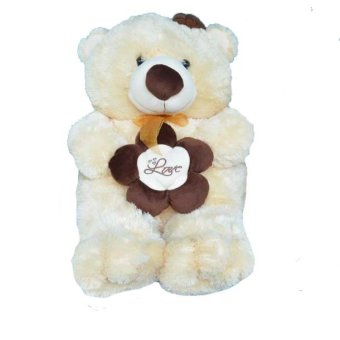 Harga Syuka Kids Boneka Teddy Bear Love Flower Besar Jumbo 85 cm (SNI) - Cream