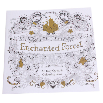 Harga Hang Qiao Secret Garden Enchanted Forest Coloring Book Black And White