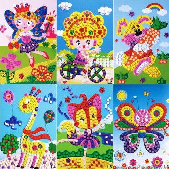 Harga Velishy 3D Crystal Mosaics Art Stickers Princess Butterflies Game Butterfly
