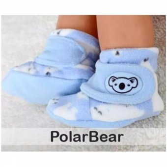 Harga Baby - Prewalker Baby Shoes Fitted - Booties Cuddle Me (Polar bear)