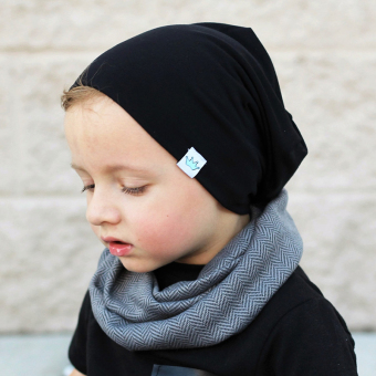 Harga Imixlot Fashion Knitted Cotton Children's Hats(Black) - intl