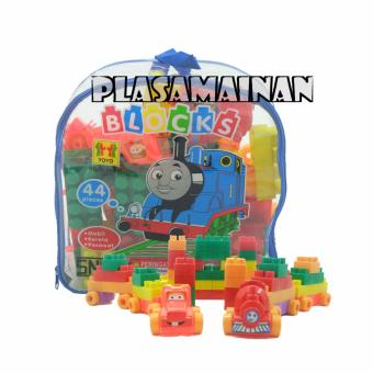 Harga AA Toys Blocks Tas BL44-TM 44 Pcs Play & Learn - Mainan Susun Blocks