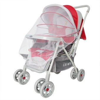 Harga Lemon 2Pcs Summer Mesh Lace Edge Safe Baby Car Carriage Insect Mosquitonet Baby Stroller Cradle Bed Net - intl