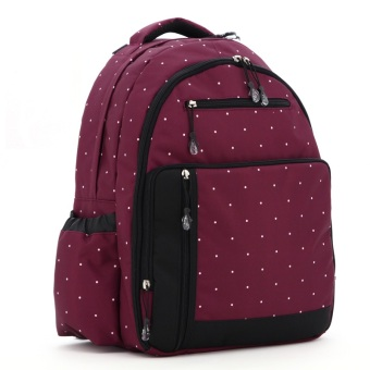 Harga Multifunction Baby Diaper Bags Mama Organizer Bag L130 (Claret Red)