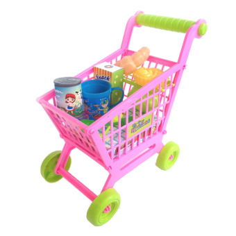 Harga Goodang Mainan Dorongan Supermarket Trolley Snack Kalengan -Multicolor