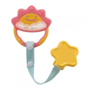 Harga Richell Baby Teether Pink with Holder