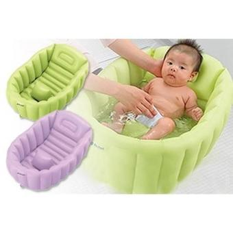 Harga Richell Soft Baby Bath Ready Color Green- Purple Age 0m+
