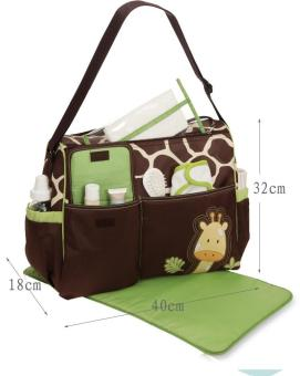 Harga Multifunctional Mummy Handbag Baby Diaper Nappy Changing Bag - intl