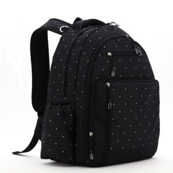 Harga Multifunction Baby Diaper Bags Mama Organizer Bag L130 (Black)