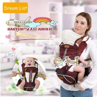 Harga Mambobaby Multifunctional Baby Carrier with Hip Seat for all season baby backpack sling(Brown)