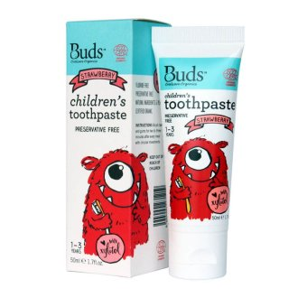 Harga Buds for Kids Children's toothpaste with natural Xylitol (1-3 years) Strawberry 50ml