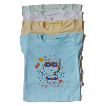 Jelova Angela 4pcs Kaos Oblong Baby Bayi Unisex 1-2 Years Bears -MixColour