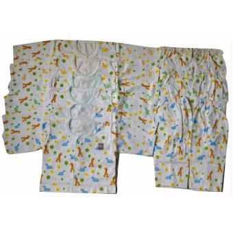 Jelova Angela Setengah Lusin Setelan Baju Tidur Piyama Baby Bayi Little Jungle SNI Standart Recommended to