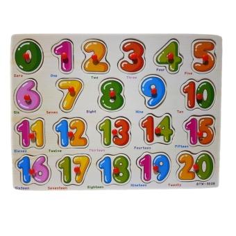 Kayla Org Mainan Edukasi Puzzle Angka 1-20