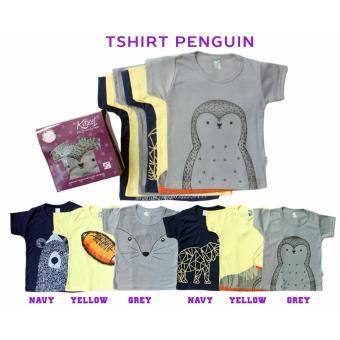 Kazel Tshirt Penguin Edition / M (2-3yr) / Baju bayi s.d Balita