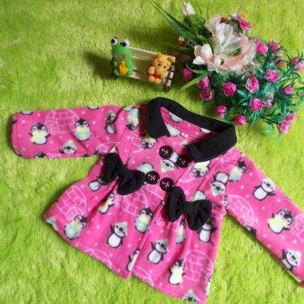 kembarshop - jaket bayi mantel bayi hangat lembut penguin 0-12 bulan